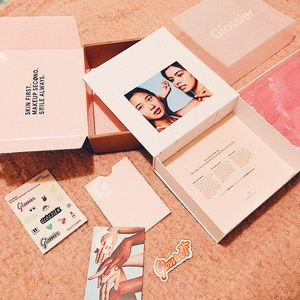 Glossier Box, Glossier Pouch, Glossier Stickers
